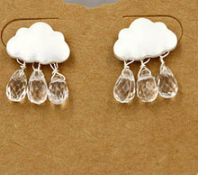 New !Fashion jewelry Simple Cloud water  earring gift for women ladie's Top quality  E016