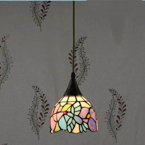 Tiffany restaurant in front of the hotel cafe bar small aisle entrance hall creative pendant light Mediterranean DF66 tiffany the restaurant in front of the hotel pendant lights cafe bar small aisle entrance hall creative pendant lamps za df71