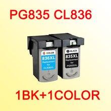 Cartucho de tinta compatível para canon pg-835 cl-836 CL836 PG835 PG835XL CL836XL PIXMA IP1188
