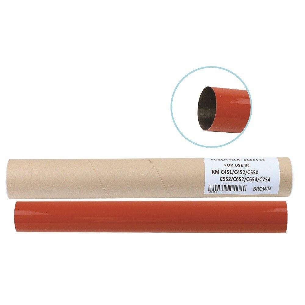 Free shipping Original material compatible Fuser Film Sleeve for Konica Minolta C351 C451 C452 C550 C552 C650 C652 1pcs bhc452 bhc552 bhc652 original lower fuser roller for konica minolta bh c452 c552 c652 copier parts pressure roller