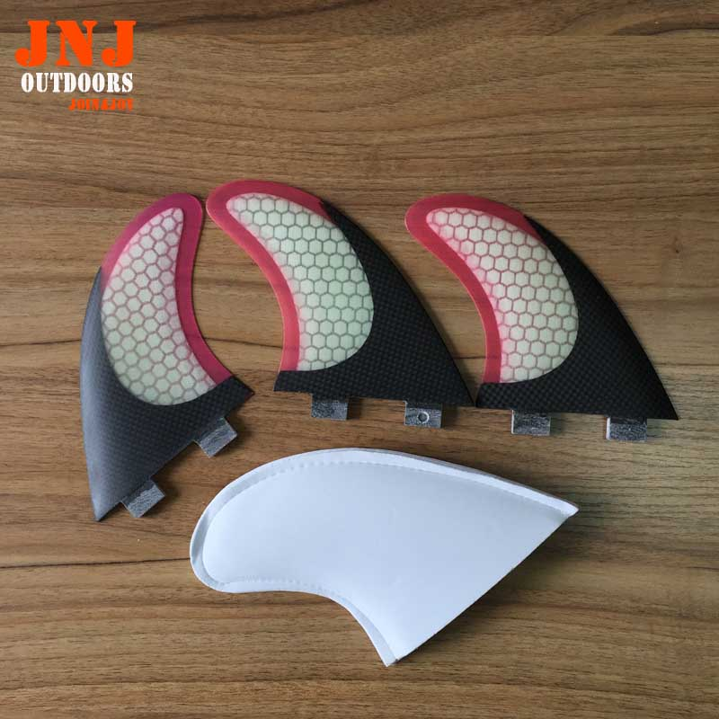 क्वालिटी लेडीज कार्बन थ्रस्टर ट्राइ फिन सेट (3) एफसीएस एम 7 जी 7 सर्फबोर्ड फिन