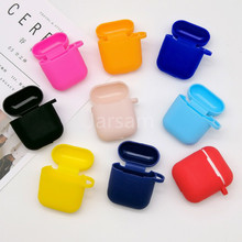 TPU Silicone Bluetooth Wireless Earphone Case For AirPods 2 Protective Cover Skin Accessories for Apple Airpods Charging Box