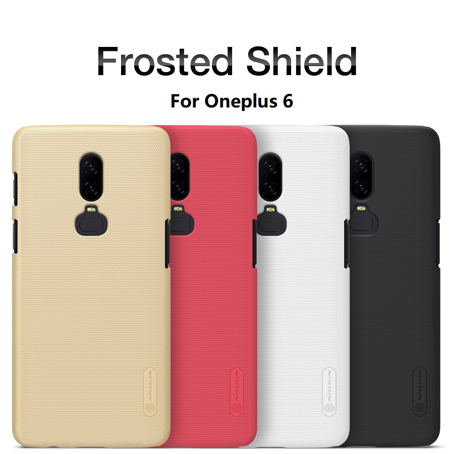 Oneplus 6 Case For Oneplus 3/3T 5 5T 6 One Plus 6 Case NILLKIN Matte Frosted Shield Hard Back Cover with Free Screen Protector