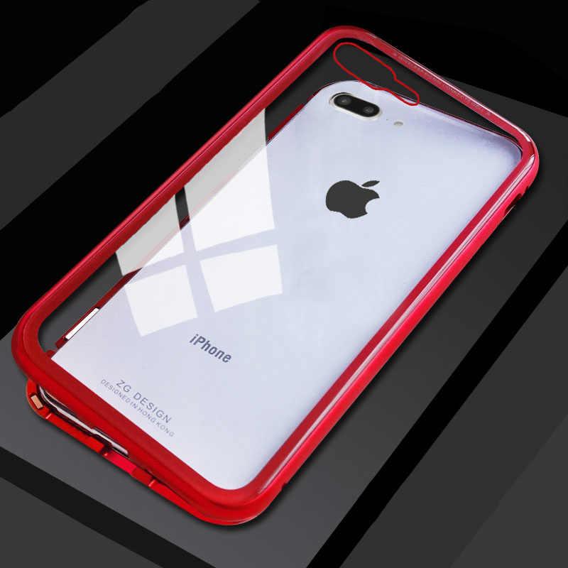 cfbbd5afb93 Fundas magnéticas para iPhone XS Max Xr X 8 7 6 6 S Plus carcasa delgada