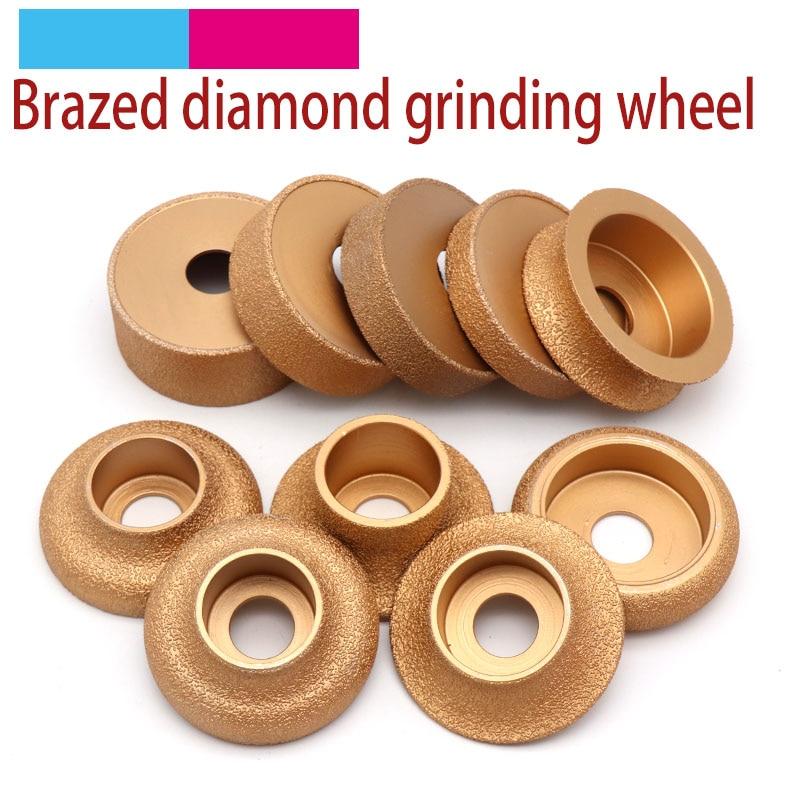 1pcs Brazing Diamond Angle Grinder Stone Grinding Wheel Semi-circular Straight Edge Round Glass Pottery Porcelain Marble Disc