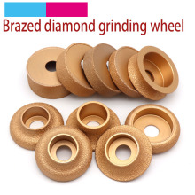 1pcs Brazing Diamond Angle Grinder Stone Grinding Wheel Semi circular Straight Edge Round Glass Pottery Porcelain Marble Disc