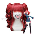 High Quality Anime Vocaloid anime  Kasane Teto Red Cosplay wig preeuque synthetic women lady peruca sobretudo feminino