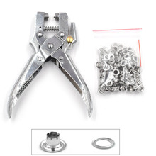 100sets / 5mm eyelets+ installation tool .Leverage pliers. Metal stomatal rivet. Button mold. Portable button mounting pliers