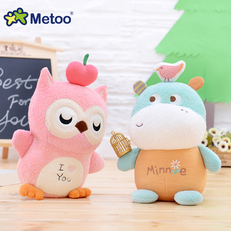 7 Inch Kawaii Plush Stuffed Animal Cartoon Kids Toys for Girls Children Baby Birthday Christmas Gift Owl Bear Horse Metoo Doll 22cm kawaii plush cute cartoon stuffed backpack pendant baby kids toys for girls birthday christmas rabbit bear fox metoo doll