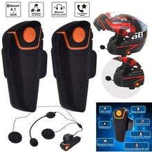 цены на 2pcs BT-S2 Intercomunicador Motorcycle Bluetooth Earphone Moto Interphone Helmet Intercom Headset Wireless Headphone With MIC FM  в интернет-магазинах