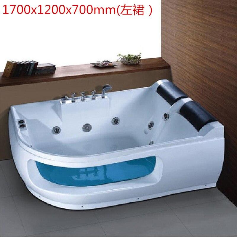 Banheira de hidromassagem acrílica do surf da banheira do redemoinho da fibra de vidro de 1700mm que massageia ns3036-1