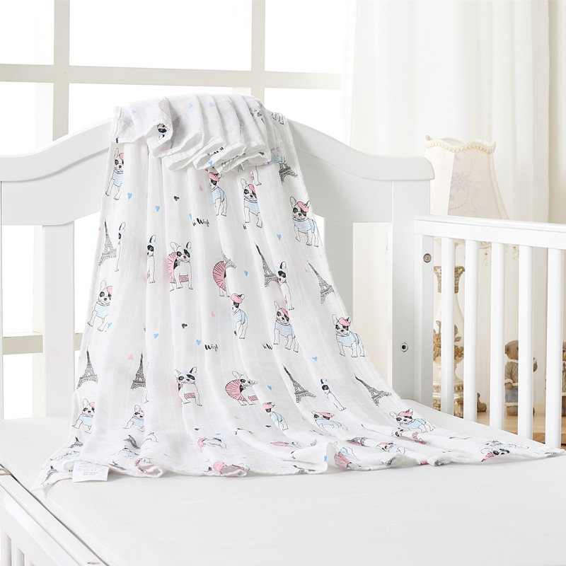 Cl 70% Bamboo Cotton Baby Muslin Swaddle Blankets Quality Better Than Aden Anais Baby Multi-use Cotton Blanket Infant Wrap