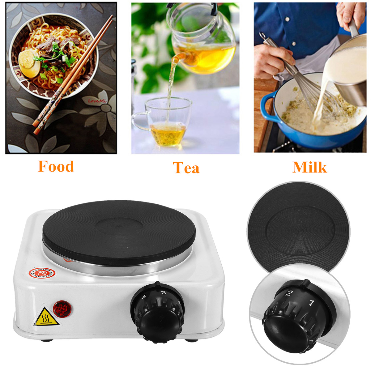 1000W Electric Burner Stove 110VUS/220V EU Quick Sustained Heat Eco-friendly Hot Plate Portable Kitchen Cooker Coffee Pot Heater цена