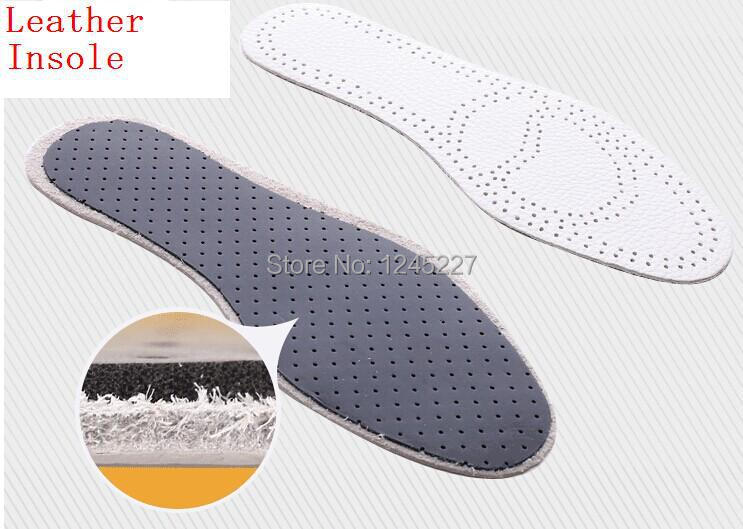 genuine Leather Insole Cushion cowhide Pad for Leisure shoes Foot Care breathable deodorant  thickening 2 pairs a lot discount