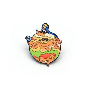 30pcs/lot Le Petit Prince Brooches Alien Planet Rose Enamel Pin for Boys Lapel Pin Hat/bag Pins Denim Jacket Brooch Badge A55