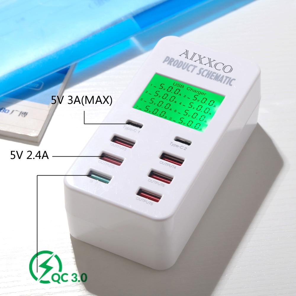 Cargador USB AIXXCO 35W con 2 puertos USB tipo C Estación de carga - Accesorios y repuestos para celulares - foto 2