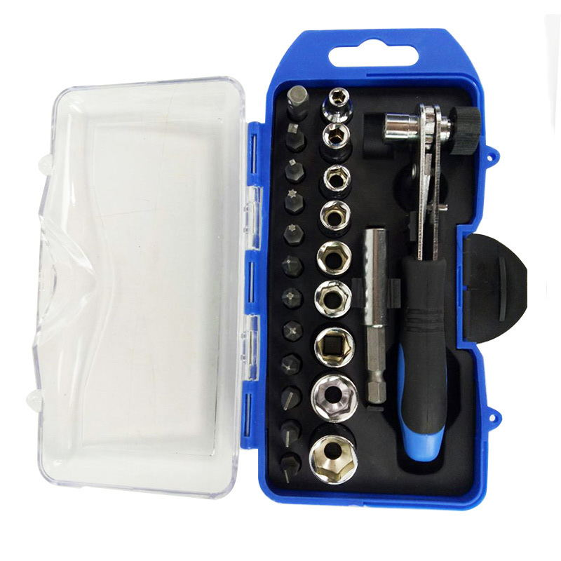 Buy 23Pcs Ratchet Manual Wrench Socket Screwdriver Socket Combination Set for only 17.57 USD