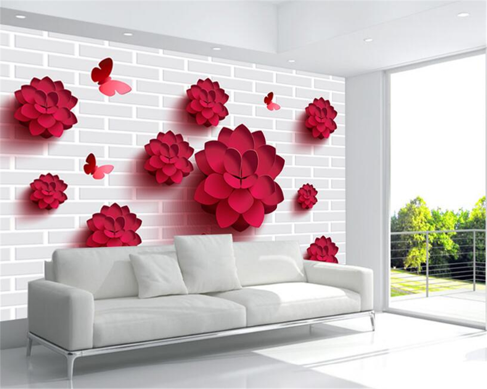 beibehang 3d wallpaper Simple Atmosphere Vector Stereo On The Wall Of The Flower Backdrop Classic Fashion Premium Wallpaper beibehang peacock hair classic fashion