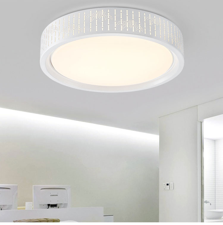 Modern Simple Led Acrylic ceiling lights, Round White/Black Color for living room bedroom home Light Fixture 42cm