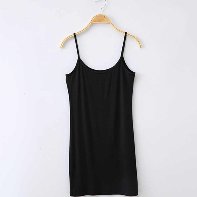 064b6c5e672 2018 Women Solid Long Camisole Sexy Spaghetti Strap Long Tank Top Wrap  Blouse Summer Casual Sexy Slip Vest Ladies Blusa 8 Color