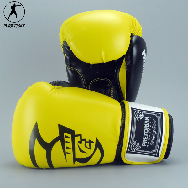 High Quality Brand Brazil PRETORIAN Pair Muay Thai PU Leather Boxing Gloves Women Men Training MMA Kick Punch Boxing Gloves