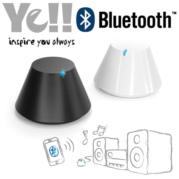 Yell White BT800 Bluetooth Audio Music Receiver stereo Speaker Adapter 3.5 mm for iPad iPod iPhone HTC Samsung Galaxy