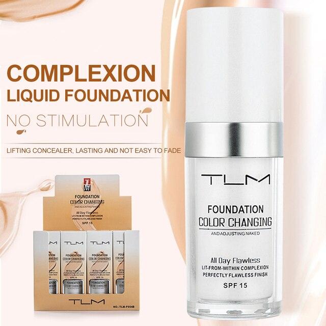 Жидкий тональный крем TLM 30 мл с изменением температуры, увлажняющий макияж, косметическая основа TSLM1