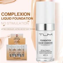 TLM 30ml Cambiamento di Temperatura Carnagione Liquido Prodotti di Base Crema Correttore Idratante Trucco Copertura di Base Cosmetici Primer, Base trucco TSLM1