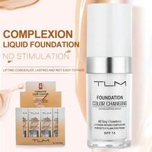 Tlm primer líquido para mudança de temperatura 30ml, creme corretivo para hidratação e maquiagem, base cosmética tslm1