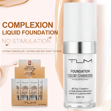 TLM 30ml Temperatuur Verandering Teint Vloeibare Foundation Crème Concealer Hydraterende Make Up Dekking Base Cosmetica Primer TSLM1