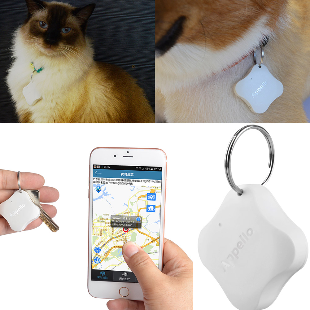Mini Waterproof Anti-lost GPS Tracker Car Tracking System with Keychain for Pets Dog Cat LCC77 tracking pets gps tracker a9 with app for android phone and iphone