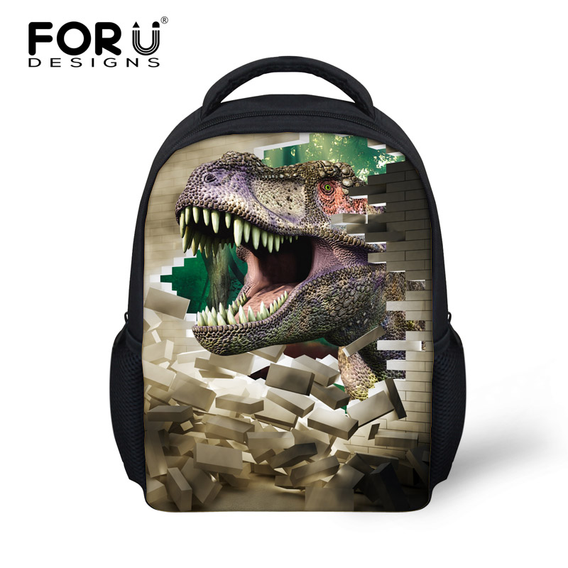 Cool 3D Animals Dinosaur Printing Backpack for Baby Boys,Children Small School Backpacks Kindergarten Bagpack,Kids Shoulder Bag