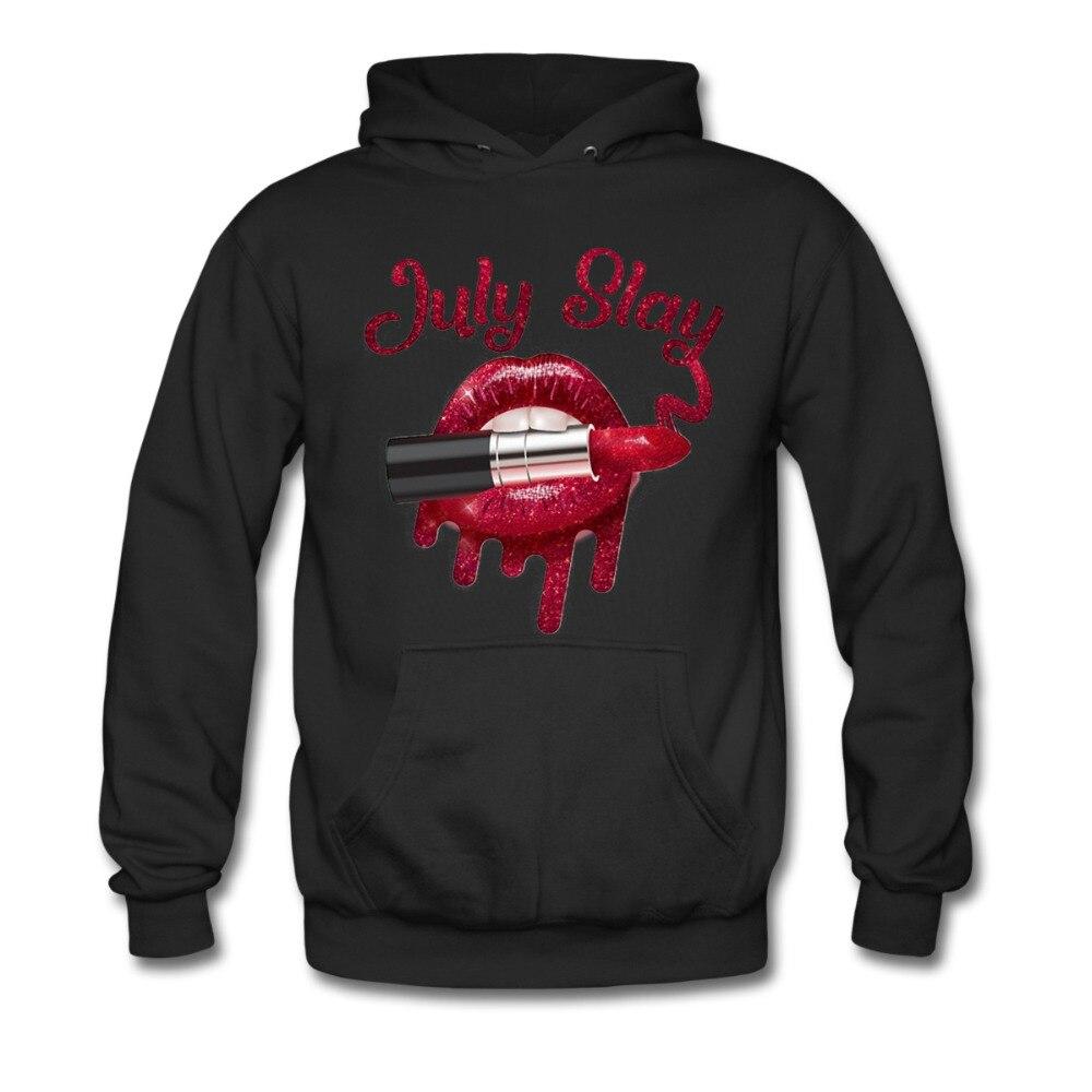 July slay lipstick red lip shirt funny Unisex Hoodie Sweatshirt