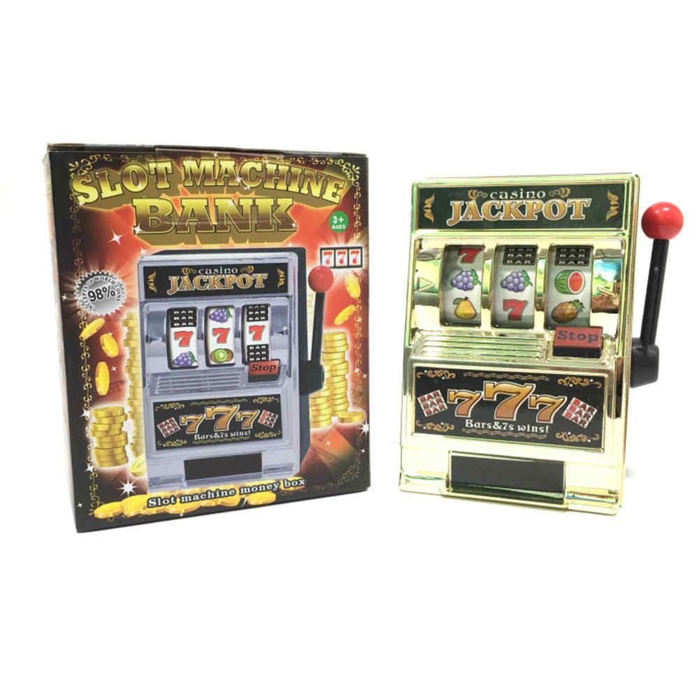 Jackpot Slot Machine Piggy Bank Fruit Money Box Coin Las Vegas Style Tabletop