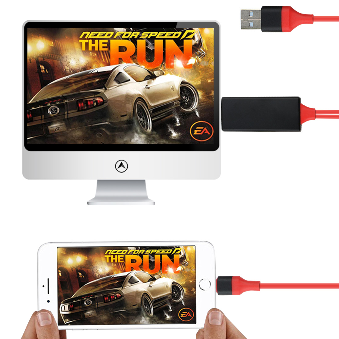 1080p Iphone Hdmi Hdtv Av Cable Adapter For Ios 10 11 Iphone X 5 Se 6s 7 8 Plus Ipad Air 2 Pro Mini Ipod For Iphone