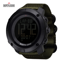 NORTH EDGE World Time Men Sports Army Watches Waterproof 50m Digital Watch Running Swimming Clock Diving Wristwatch Montre Homme(China)