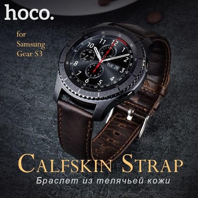 Hoco véritable bracelet en cuir pour samsung gear s3 classique frontière  style pour smart watch band bracelet brun boucle en acier dans Smart  Accessoires de