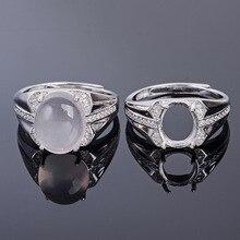 MeiBaPJ 8*10/10*12 Natural Rose Quart  Gemstone Fashion Ring
