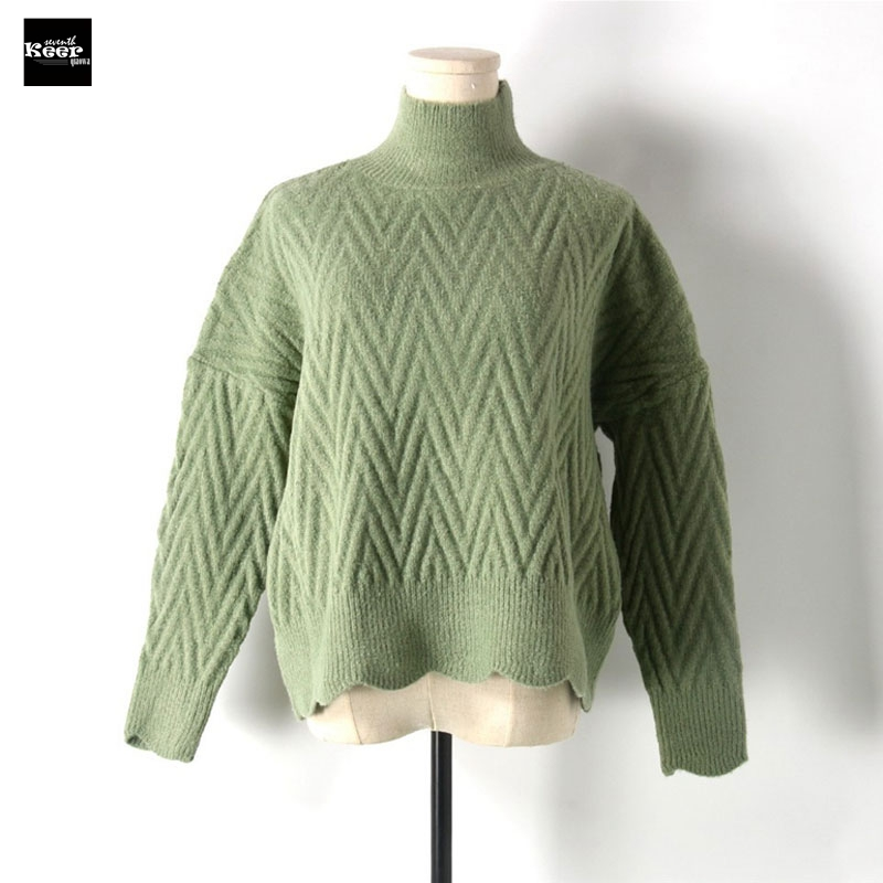 2018 Autumn Winter New Fashion Sweater Female Pullovers Thick Waves Loose Knitted Sweaters Pullover Runway Designer Tops Jumper