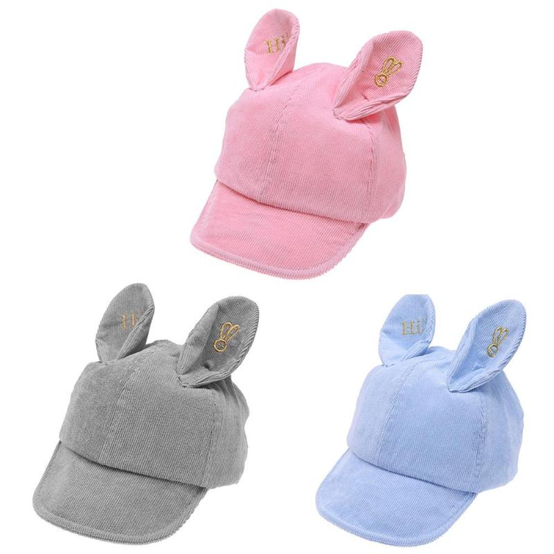Orderly Baby Hats Cute Expression Soft Brim Hat Boys Girls Embroidered Ears Baseball Cap For 0-3 Years Old Kids Summer Spring Autumn Mother & Kids Boys' Baby Clothing