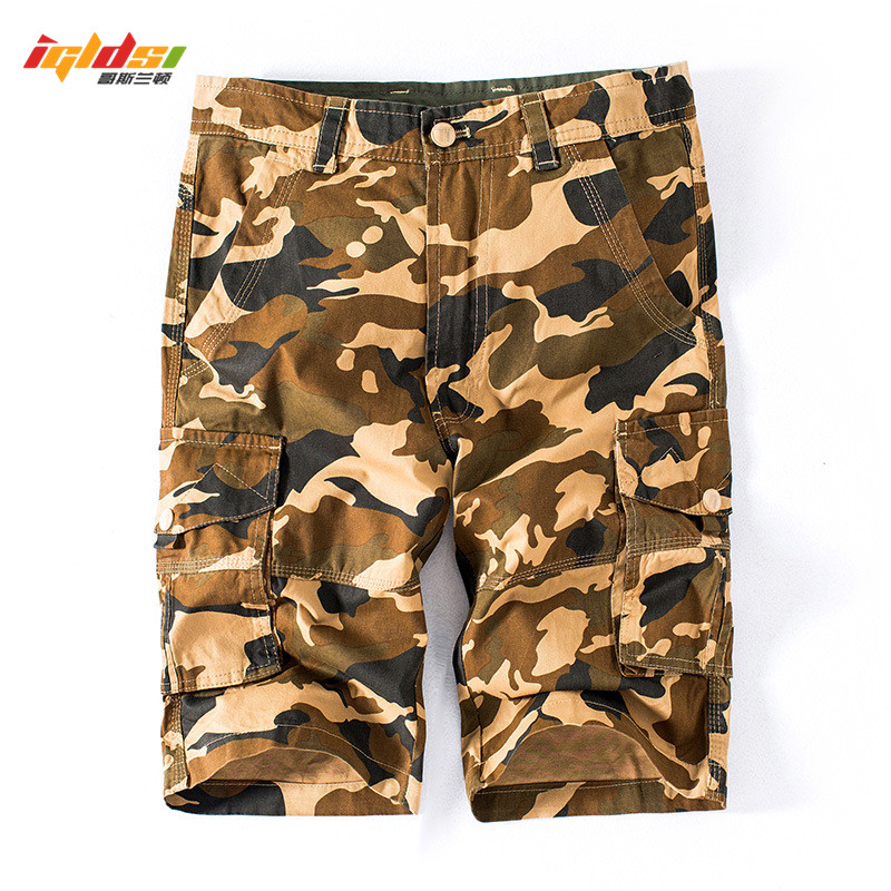 2018 New Cargo Shorts Men Summer Top Design Camouflage Military Casual Shorts Homme Cotton Fashion Brand breeches Tactical Short