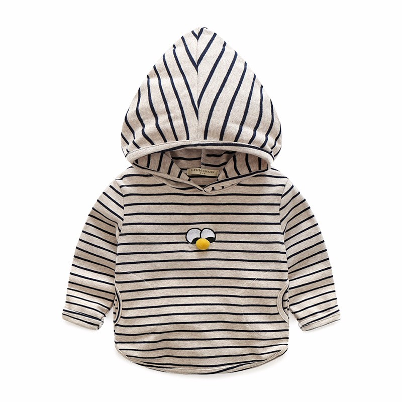 Hoody For Boy Striped Cotton Kids Clothes Spring Autumn Boys Hoodies With Eyes Long Sleeve Toddler Tee 2-6 Y Children Clothing (3)