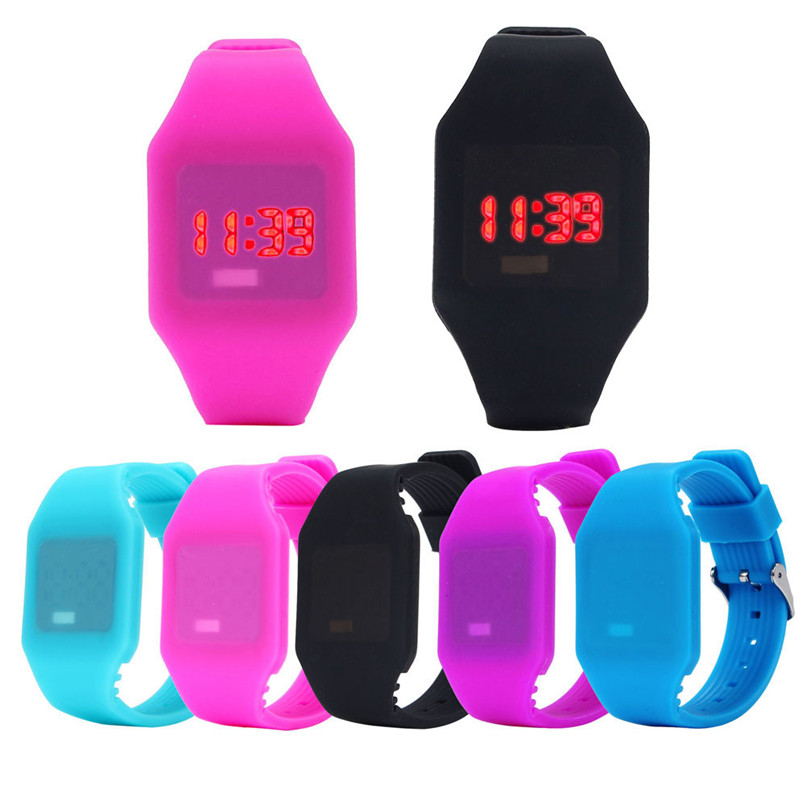 Excellent Quality 2018 New Digital Watch Womens Mens Rubber LED Watch Date Sports Bracelet Digital Wrist Watch #4A24
