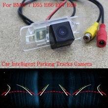 Автомобиль Интеллектуальные Парковка Треки Камеры ДЛЯ BMW 7 E65 E66 E67 E68 2001 ~ 2008/Резервное копирование Камера Заднего Вида/Камера Заднего вида/HD CCD