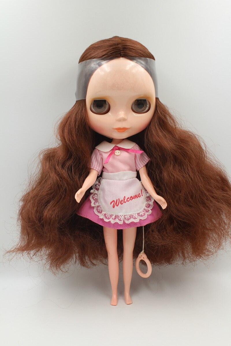 Фотография Free Shipping big discount RBL 6-10 DIY Nude Blyth doll birthday gift for girl 4 colour big eyes with beautiful Hair cute toy