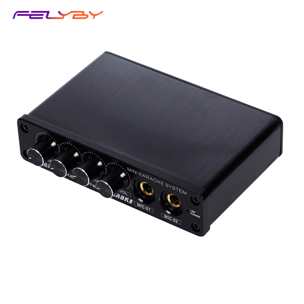 FELYBY Karaoke Mixer TV K song K song Karaoke TV Karaoke multi-functional analog sound console letter print color block briefs