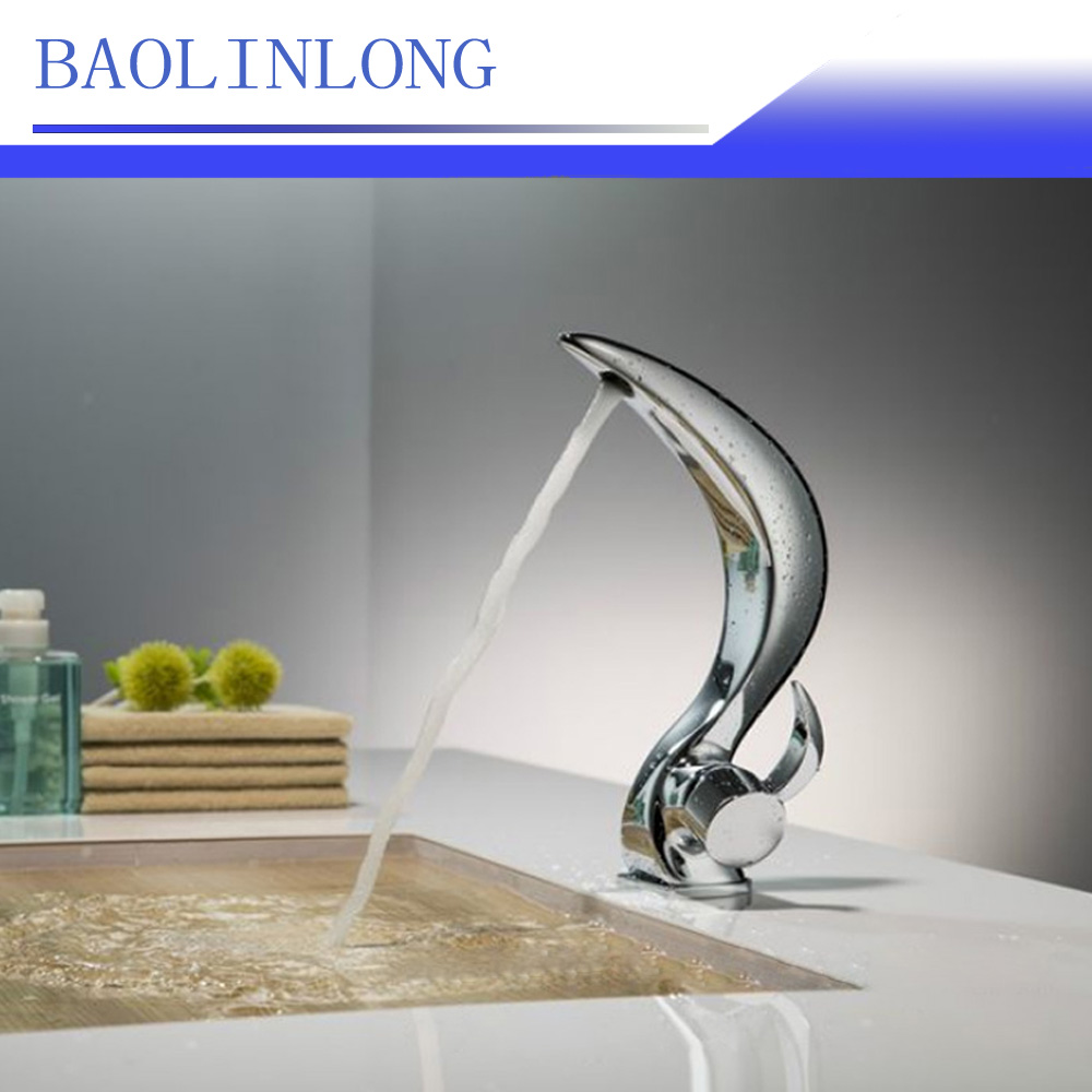 BAOLINLONG News Styling Brass Basin Deck Mount Bathroom Faucets Vanity Vessel Sinks Mixe ...