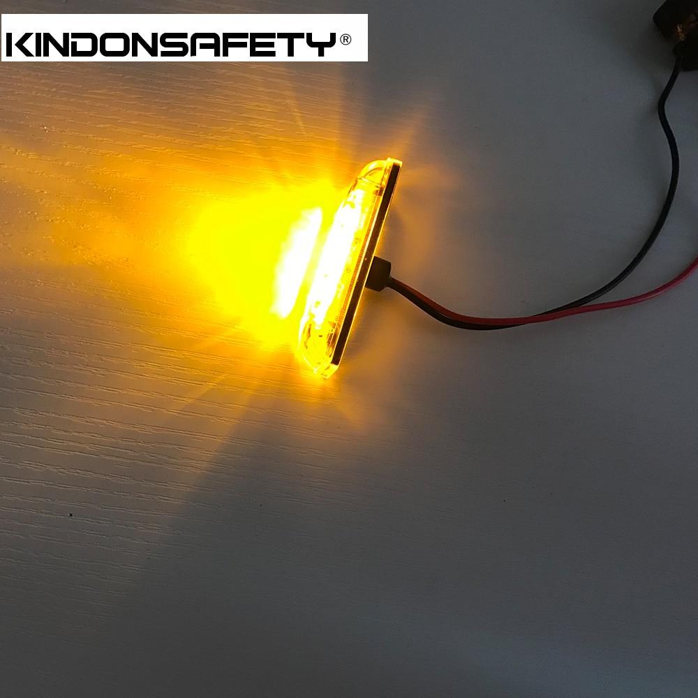 20 шт! E-помечено светодиодный Авто Боковой габаритный фонарь с 4 шт. светодиодный s, излучающий янтарный свет, габаритный фонарь, DC12V или 24 V