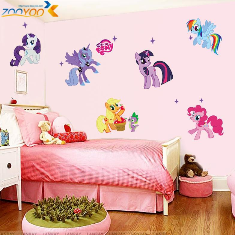 my little pony 3d cartoon wall stickers for kids room home