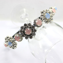 Baroque Vintage flowers rhinestone Bridal Headband  Fine hair band cute girl Hair jewelry new Fashion Women Accessories gift